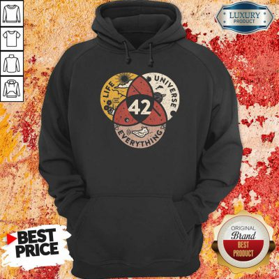 42 The Answer To Life Universe And Everything Hoodie-Design By Soyatees.com