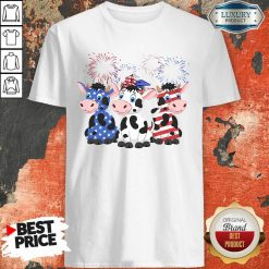 Cows Blue White Red American Flag Shirt-Design By Soyatees.com