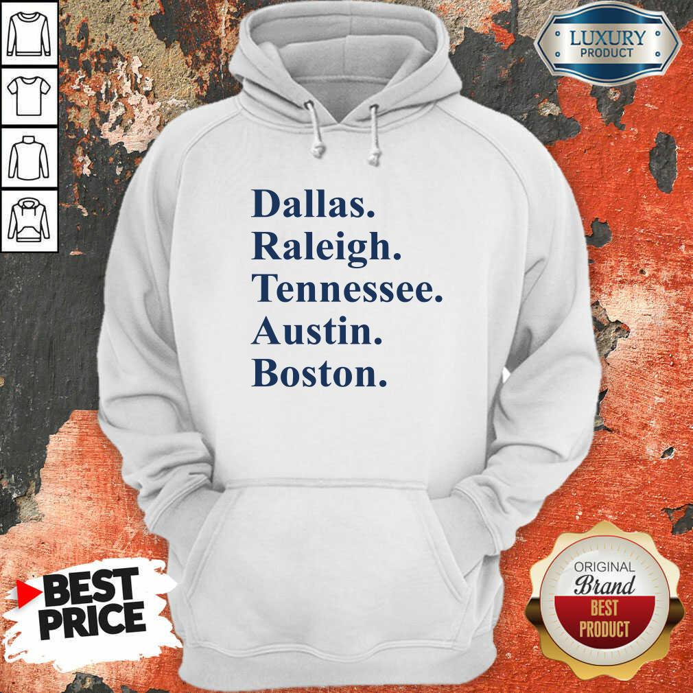 Dallas Raleigh Tennessee Austin Boston Hoodie-Design By Soyatees.com
