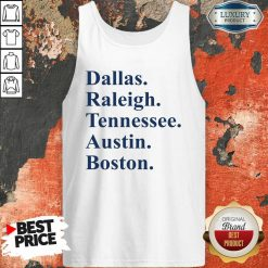 Dallas Raleigh Tennessee Austin Boston Tank Top-Design By Soyatees.com