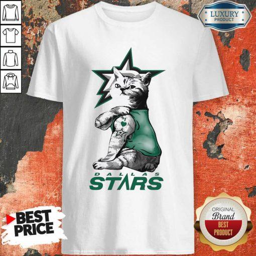 Tattoo Cat I Love Dallas Stars Shirt-Design By Soyatees.com