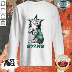 Tattoo Cat I Love Dallas Stars Sweatshirt-Design By Soyatees.com