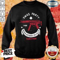 Xmas Party 1988 Nakatomi Plaza Survivor Guns Sweatshirt-Design By Soyatees.com