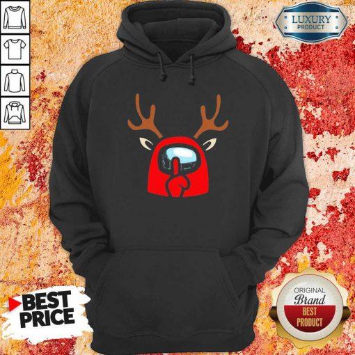 Among Us Reindeer Imports Christmas Hoodie-Design By Soyatees.com