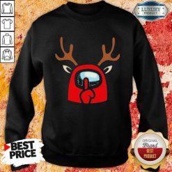 Good Among Us Reindeer Imports Christmas Sweatshirt-Design By Soyatees.com