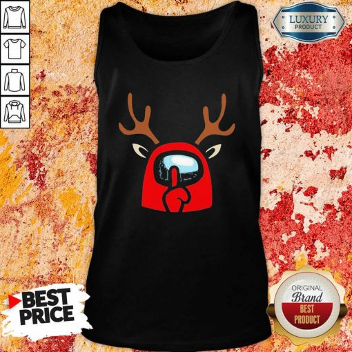 Among Us Reindeer Imports Christmas Tank Top-Design By Soyatees.com