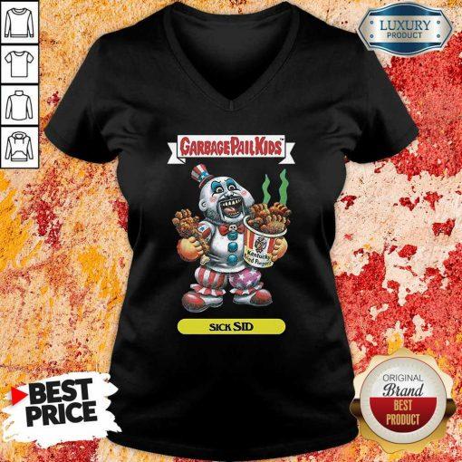 Captain Spaulding Garbage Pail Kids Sick Sid V-neck-Design By Soyatees.com