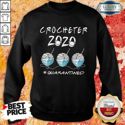 Crocheter 2020 Face Mask Quarantined Sweatshirt-Design By Soyatees.com
