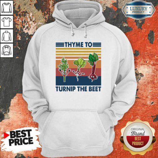 Gardening Thyme To Turnip The Beet Vintage Retro Hoodie - Desisn By Soyatees.com