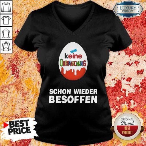 Keine Überraschung Schon Wieder Besoffen V-neck-Design By Soyatees.com