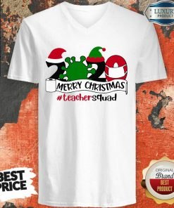 Merry Christmas 2020 Santa Elf Coronavirus V-neck-Design By Soyatees.com
