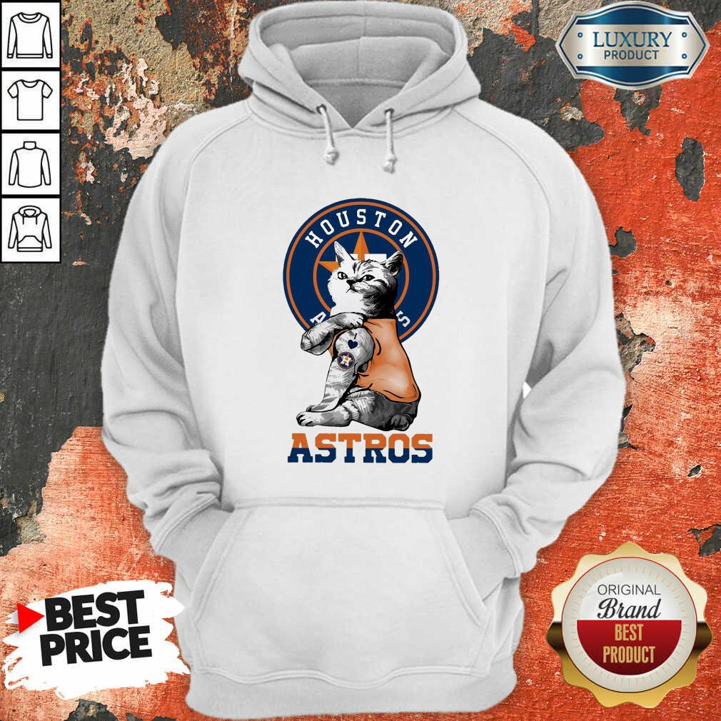 Tattoo Cat I Love Houston Astros Hoodie-Design By Soyatees.com