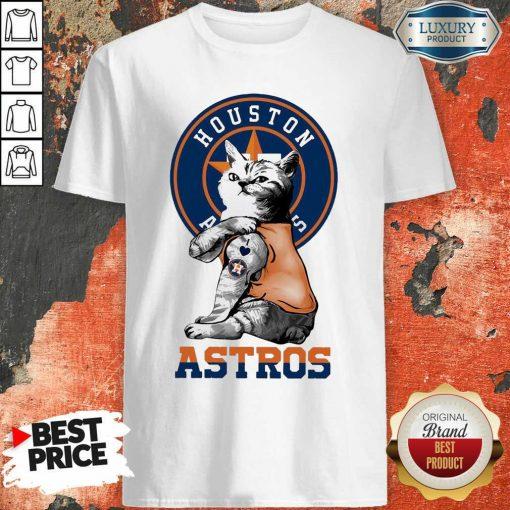 Tattoo Cat I Love Houston Astros Shirt-Design By Soyatees.com