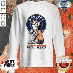 Tattoo Cat I Love Houston Astros Sweatshirt-Design By Soyatees.com