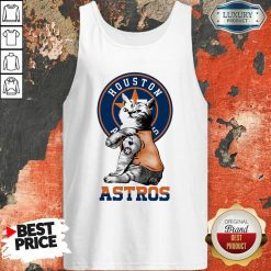 Tattoo Cat I Love Houston Astros Tank Top-Design By Soyatees.com