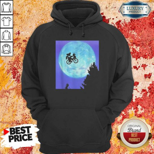 Bear Cycling The Moon Grateful Dead Hoodie-Design By Soyatees.com