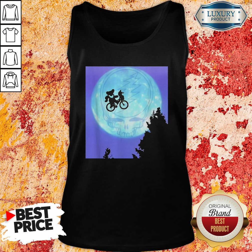 Bear Cycling The Moon Grateful Dead Tank Top-Design By Soyatees.com