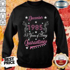 December 1985 35 Years Of Being Quarantine 35Th Birthday Sweatshirt-Design By Soyatees.com