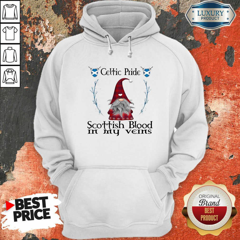 Gnomes Celtic Pride Scottish Blood In My Veins Hoodie-Design By Soyatees.com