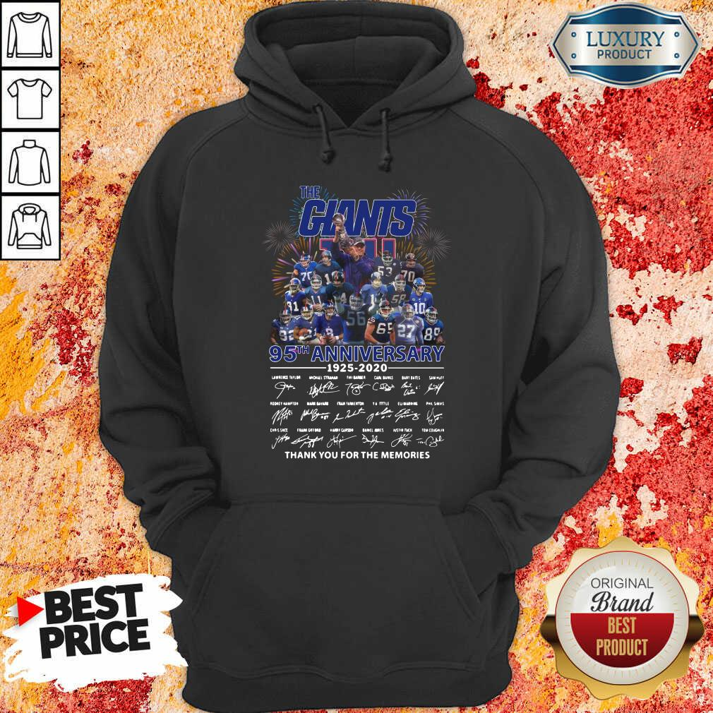 Happy The Giants 95Th Anniversary Thank You For The Memories Signatures Hoodie-Design By Soyatees.com