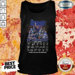 The Giants 95Th Anniversary Thank You For The Memories Signatures Tank Top-Design By Soyatees.com