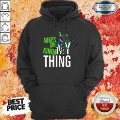 Bikes Are Kinda My Thing Cyclist Students Hoodie-Design By Soyatees.com
