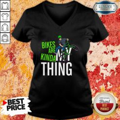 Bikes Are Kinda My Thing Cyclist Students V-neck-Design By Soyatees.com