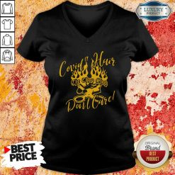 Covid 19 Hair The Chop Shop Don'T Care V-neck-Design By Soyatees.com