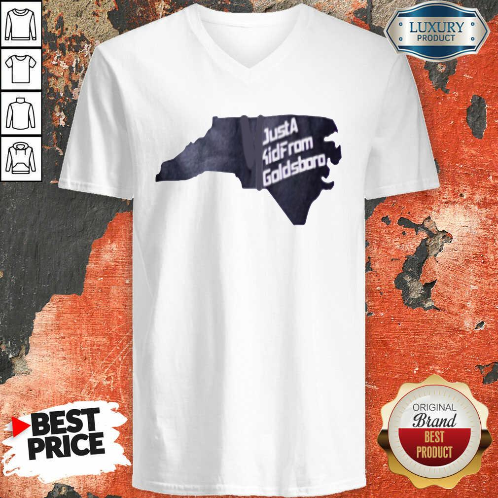 Hot Just A Kid From Goldsboro V-neck - Desisn By Soyatees.com