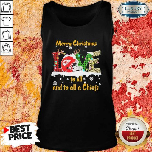 Love Merry Christmas To All And To All A Kansas City Chiefs Tank Top-Design By Soyatees.com