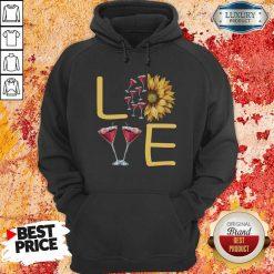 Love Sunflower Wine Hoodie - Desisn By Soyatees.com
