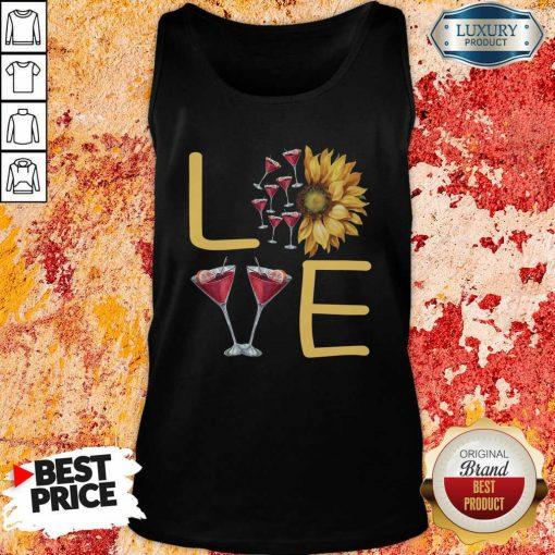 Love Sunflower Wine Tank Top - Desisn By Soyatees.com