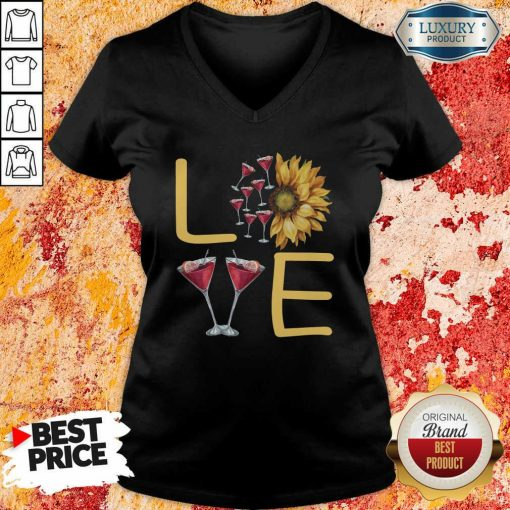 Love Sunflower Wine V-neck - Desisn By Soyatees.com