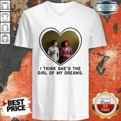 Michael Cera And Mary Elizabeth I Think Shes The Girl Of My Dreams V-neck - Desisn By Soyatees.com