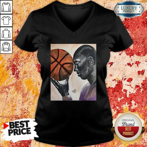Michael Jordan Basketball V-neck - Desisn By Soyatees.com