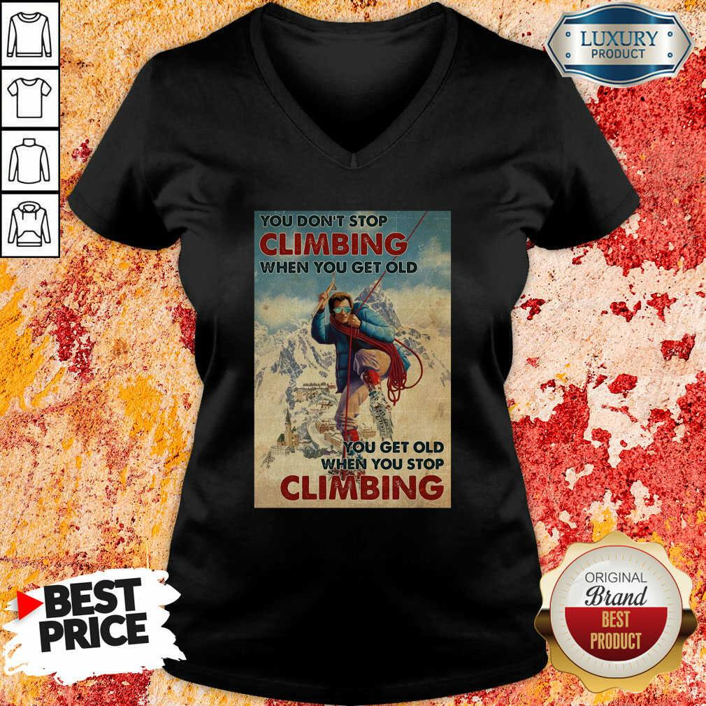 Mountaineering You Dont Stop Climbing When You Get Old V-neck - Desisn By Soyatees.com