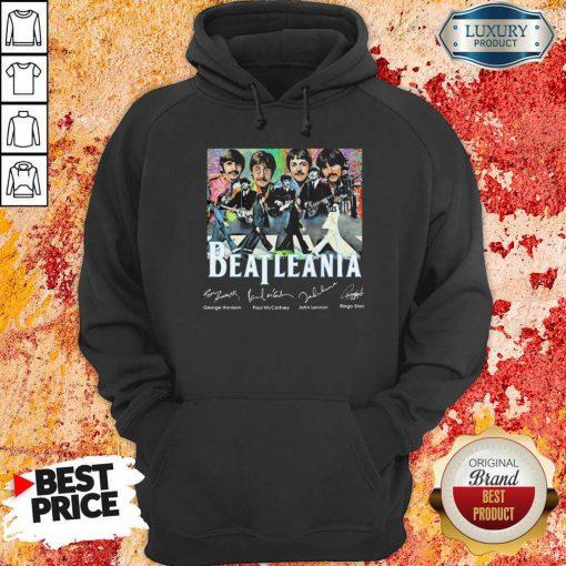 The Beatleania George Harrison Paul Mc Cartney John Lennon Ringo Starr Hoodie-Design By Soyatees.com