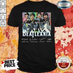 The Beatleania George Harrison Paul Mc Cartney John Lennon Ringo Starr Shirt-Design By Soyatees.com
