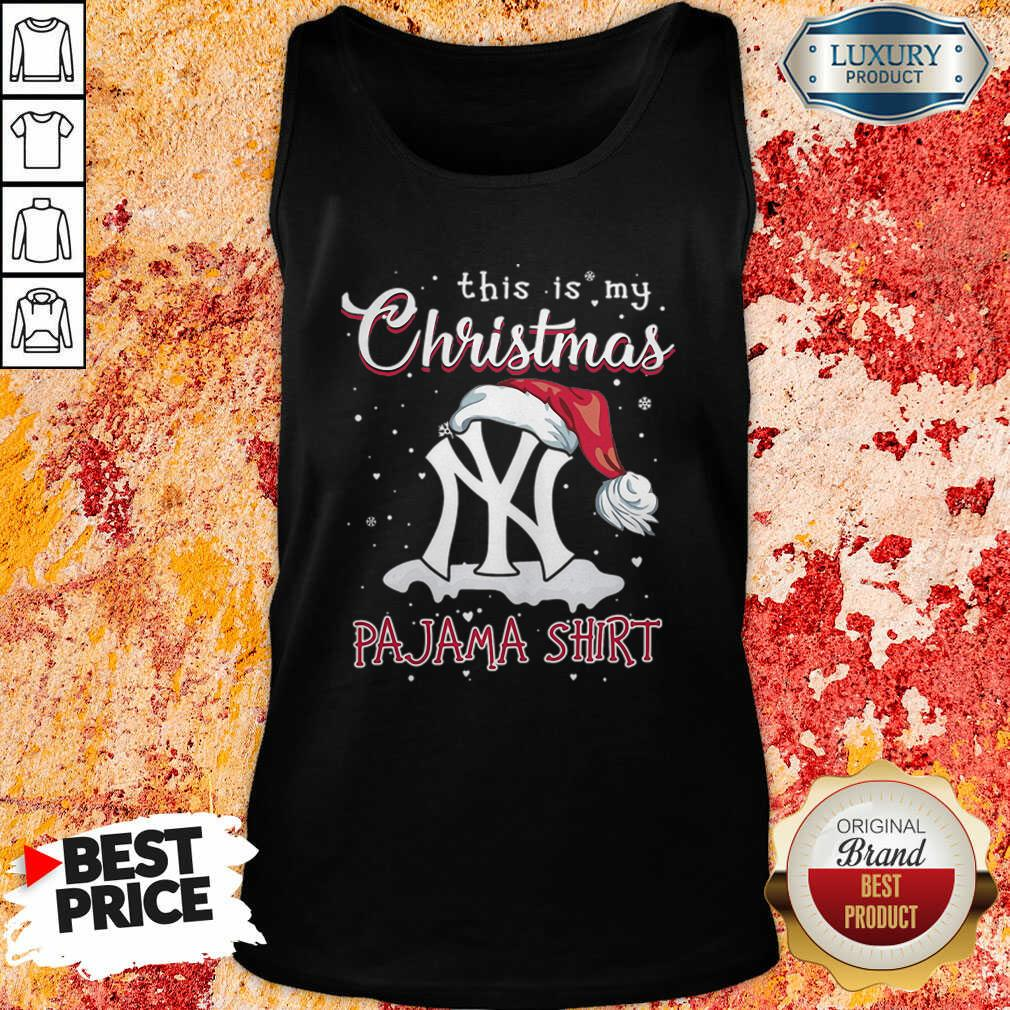 This Is My Christmas Pajama New York Yankees Tank Top-Design By Soyatees.com
