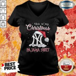 This Is My Christmas Pajama New York Yankees V-neck-Design By Soyatees.com