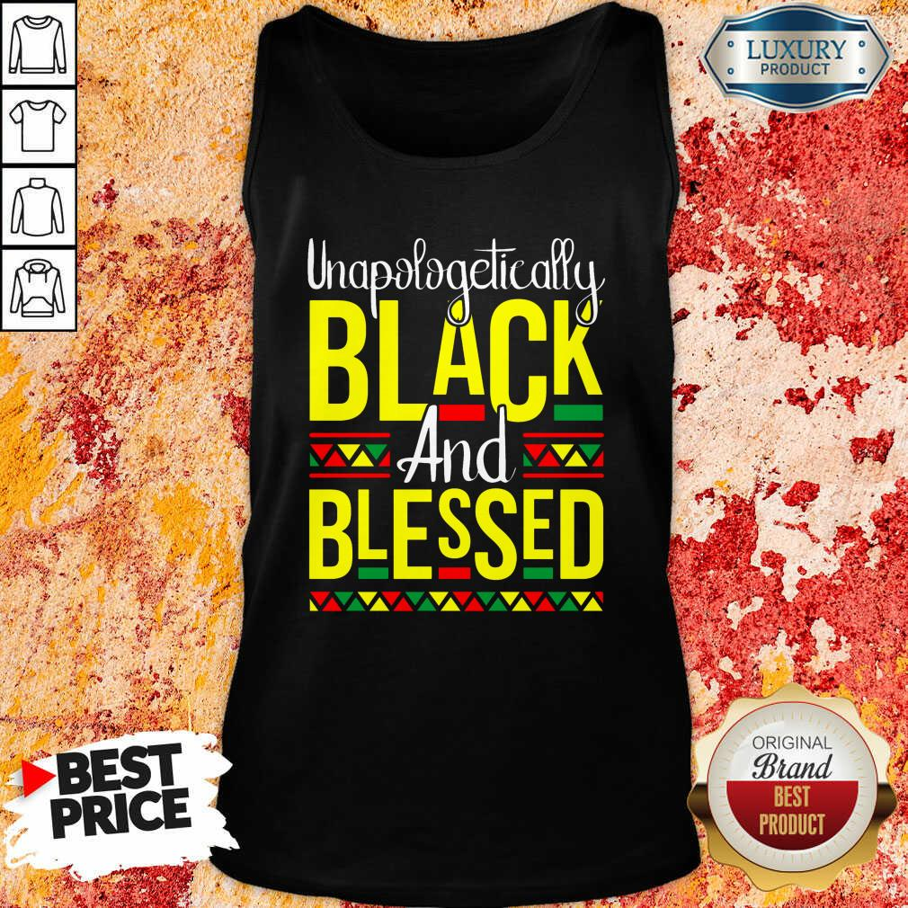 Unapologetically Black And Blessed Tank Top-Design By Soyatees.com