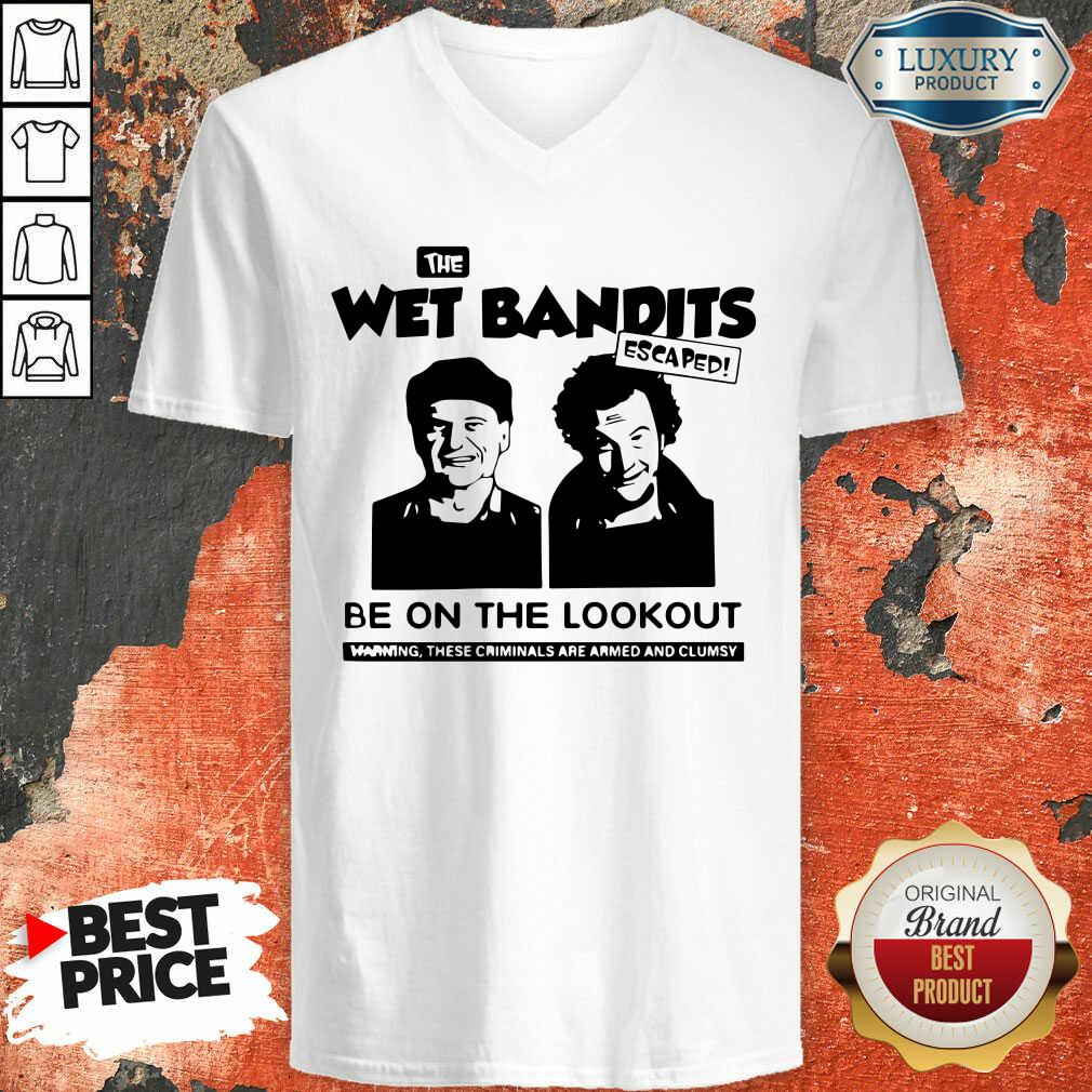 The Wet Bandits Escaped Be On The Lookout V-neck-Design By Soyatees.com