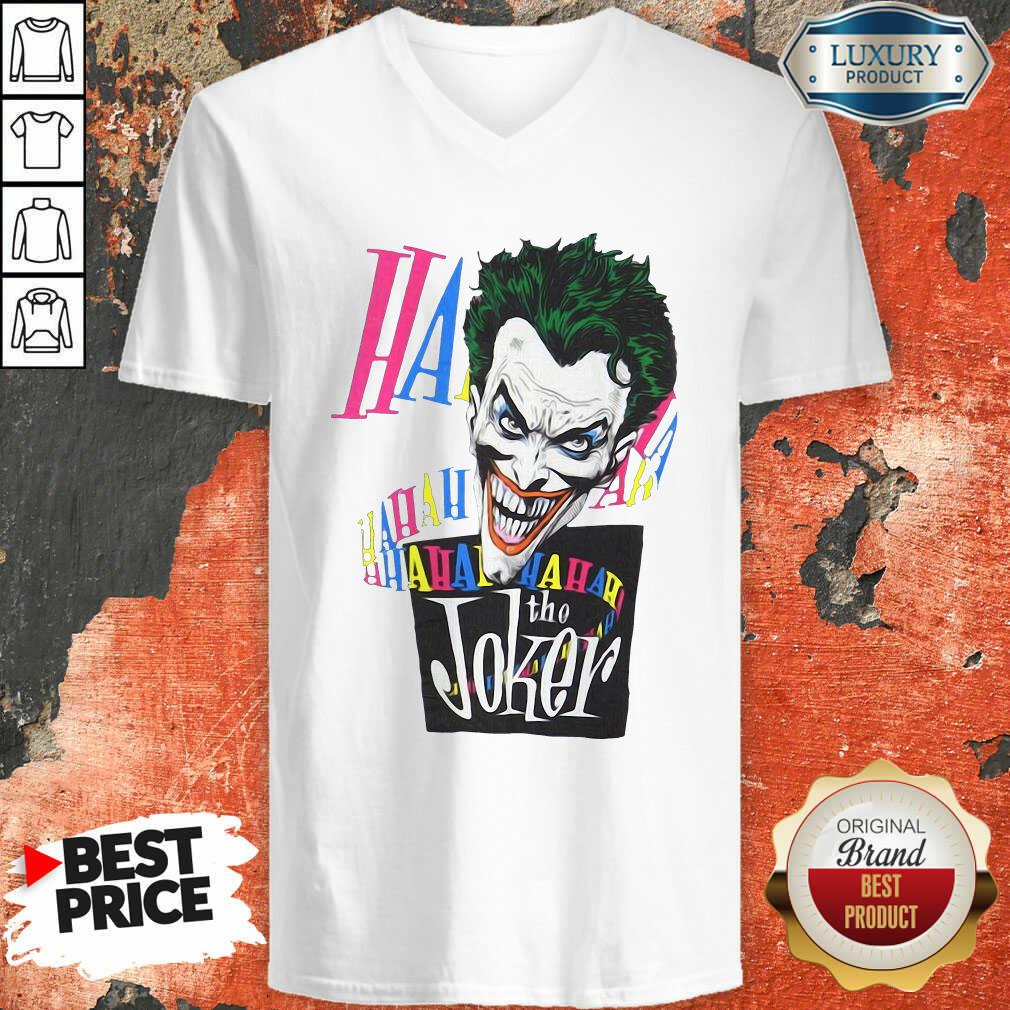 DC Joker Large Brian Bolland Art White 1987 Vintage V-neck - Desisn By Soyatees.com