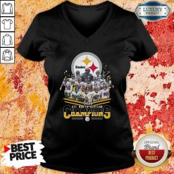 Pittsburgh Steelers 2020 Afc North Division Signatures V-neck - Desisn By Soyatees.com