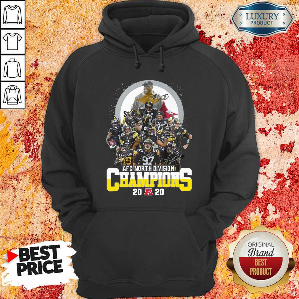 Pittsburgh Steelers Afc North Division Champions 2020 Signatures Hoodie - Desisn By Soyatees.com
