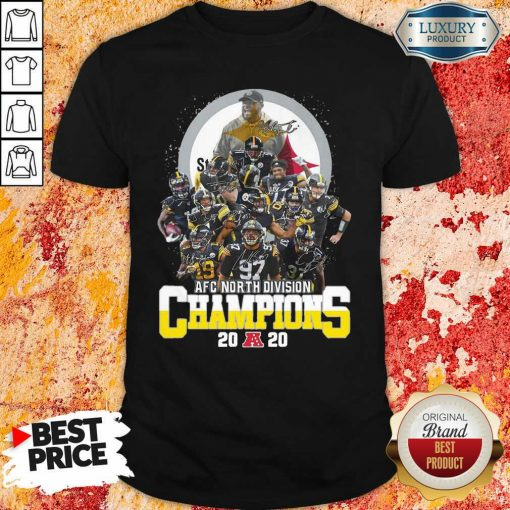 Pittsburgh Steelers Afc North Division Champions 2020 Signatures Shirt - Desisn By Soyatees.com
