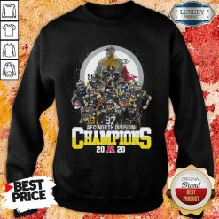 Pittsburgh Steelers Afc North Division Champions 2020 Signatures Sweatshirt - Desisn By Soyatees.com