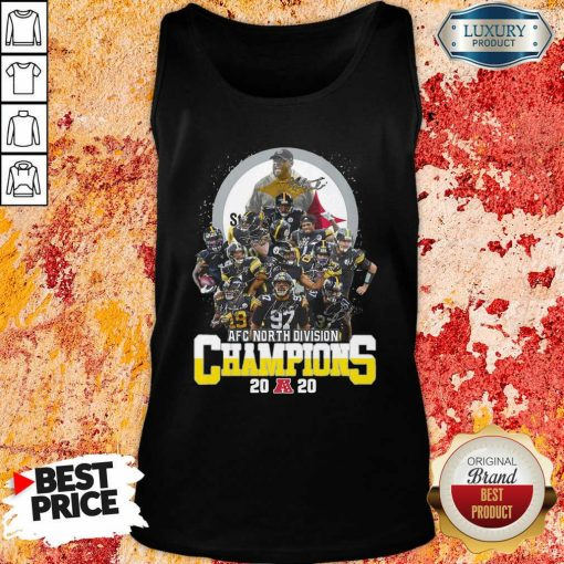 Pittsburgh Steelers Afc North Division Champions 2020 Signatures Tank Top - Desisn By Soyatees.com