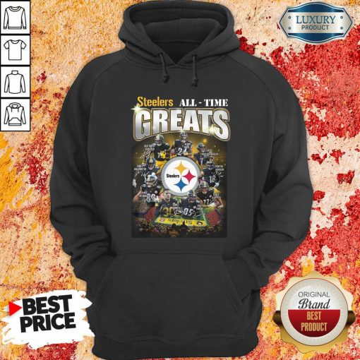 Pittsburgh Steelers Team Football All Time Greats Signatures Hoodie - Desisn By Soyatees.com