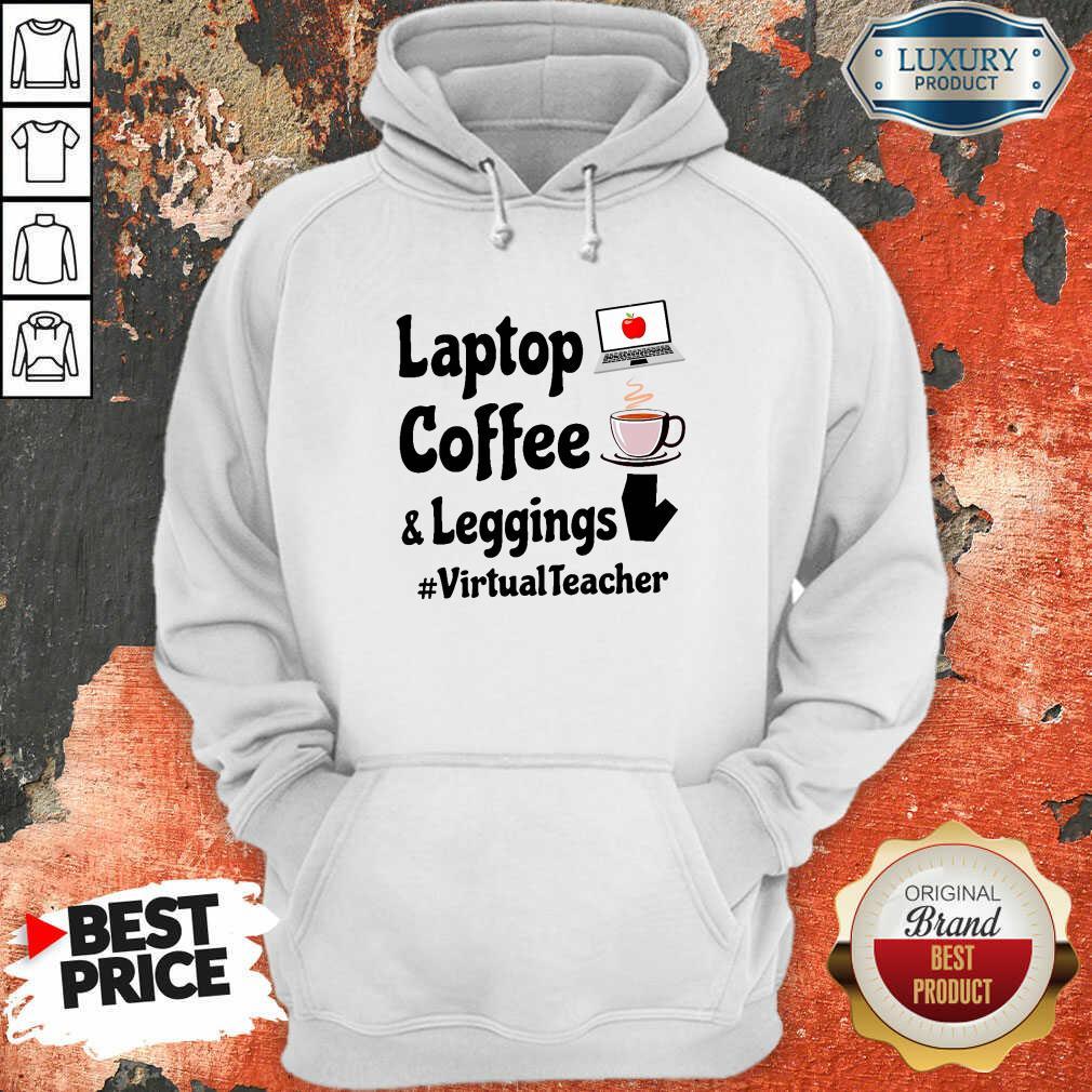 Virtual Teacher Laptop Coffee And Leggings Hoodie-Design By Soyatees.com